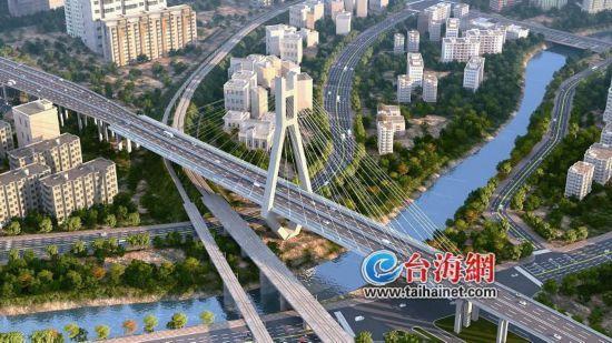 龙岩大桥明年底将全线通车让城南和城北连成一片